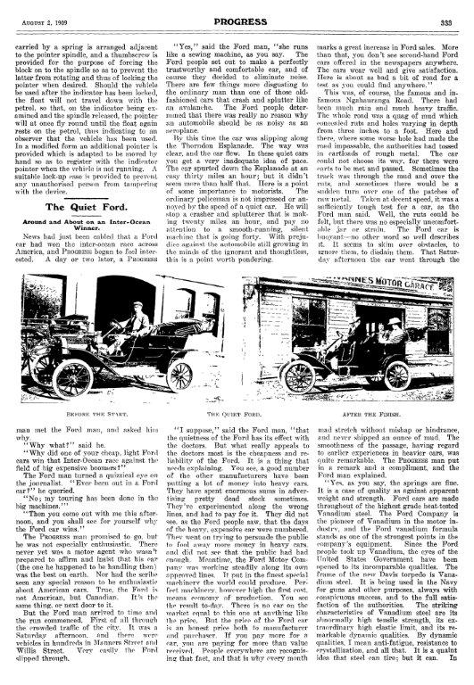 Progress Newspaper August 1909