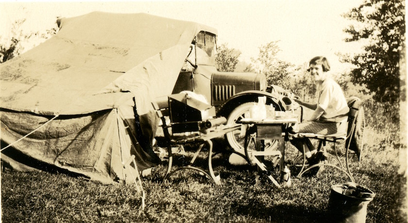 camping with Model T