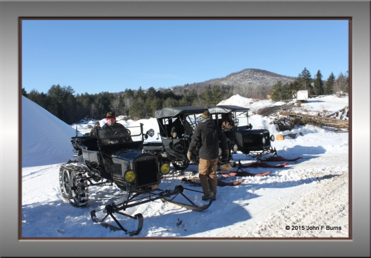 Snowmobiles at Johnson Farm
