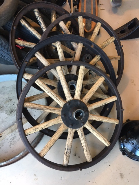 Stripped, cleaned wheels.