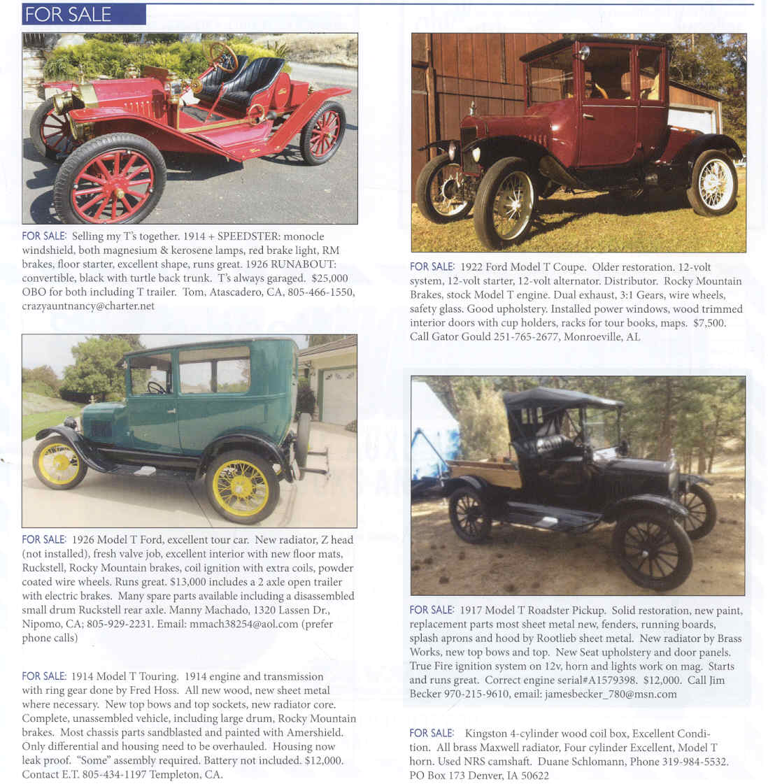 Model T Ford Forum: Anyone see a ad for a \'22 coupe in one of the ...