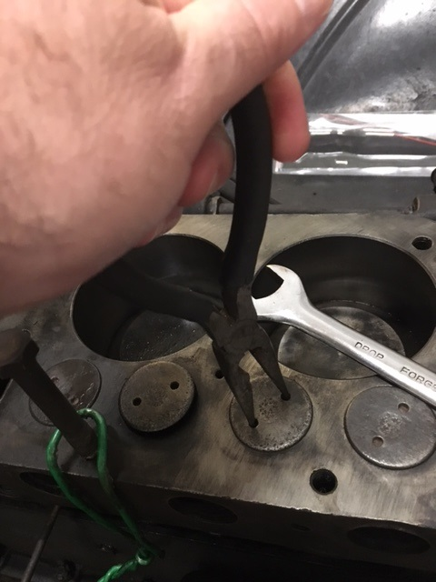 Needle nose pliers instead of reciprical valve grinding tool