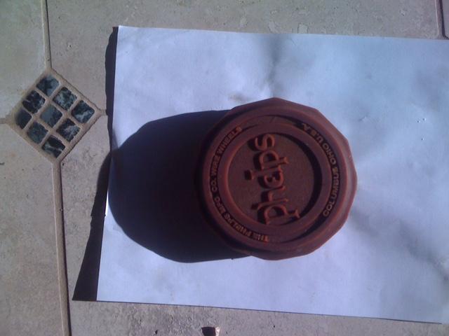 wax copy of the hub cap