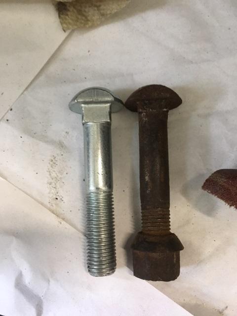 Lug bolt head size.