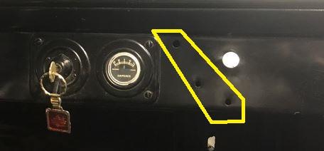 T holes in dash