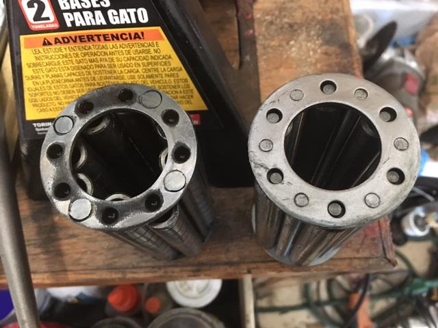 Original Hyatt bearings versus new modern ones.