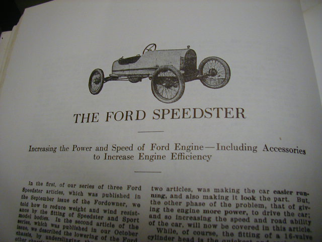 The Ford Speedster