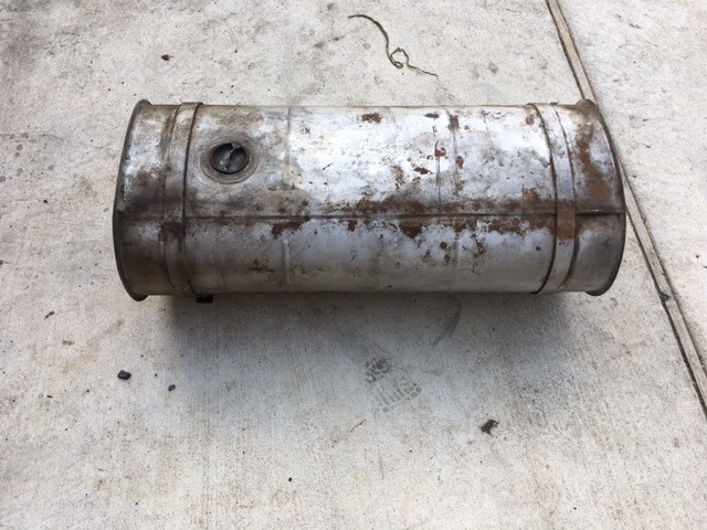Gas tank removed.