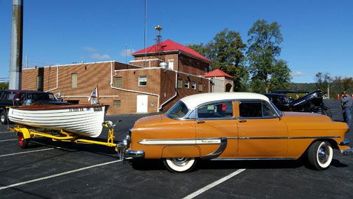 54 Chevy and Boat