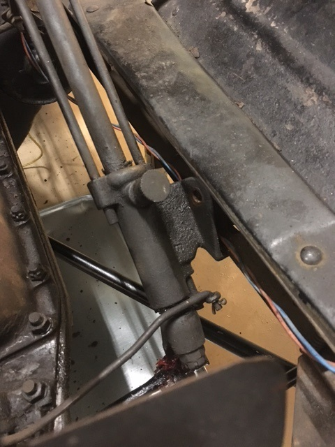 Lower steering column mount.