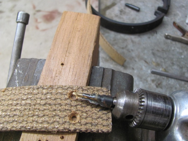Brake Lining Tools : Model t ford forum installing brake linings with rivets