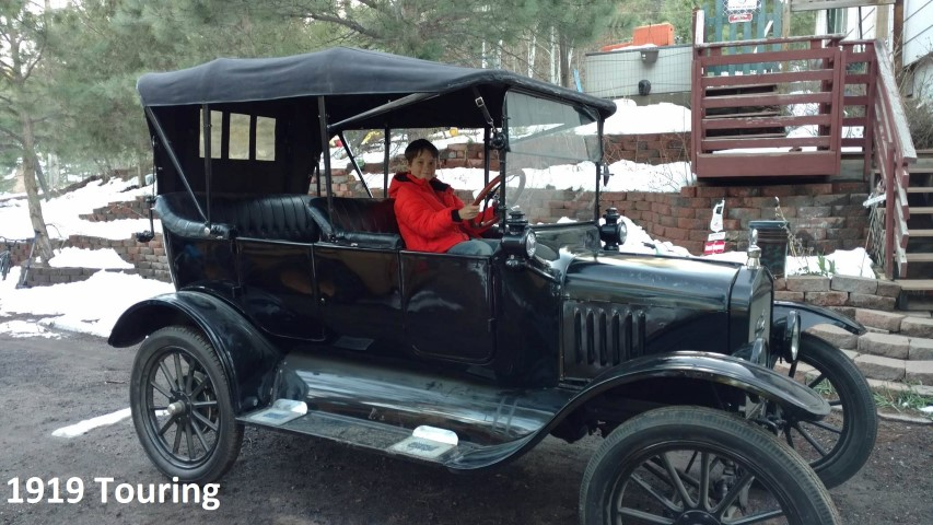1919 Touring car, the hard one to start.