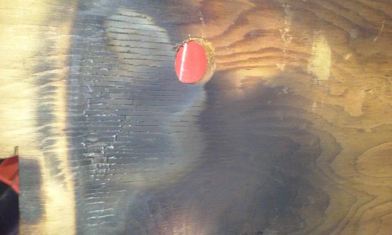 floor board burned
