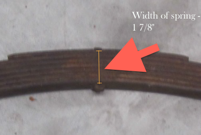 Example front spring