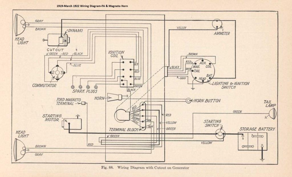 ford model a back up lights diagram model t ford forum: taillight wiring