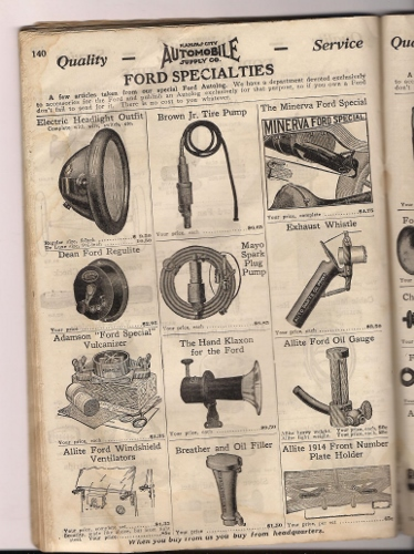 American Auto Parts >> Model T Ford Forum: 1914 Ford Accessories catalog