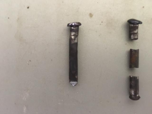 Steering gear rivets