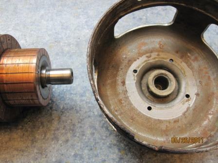 Worn original bushing