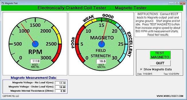 ECCT Magneto Tester