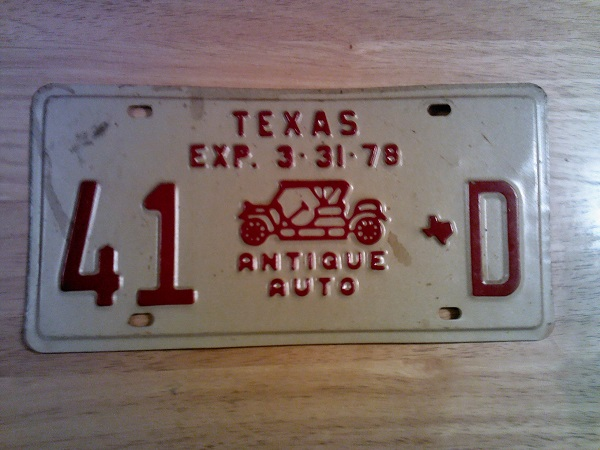 I have three with antique plates and consider myself as the  inspector . & Model T Ford Forum: Classic Vs Antique plates in Texas