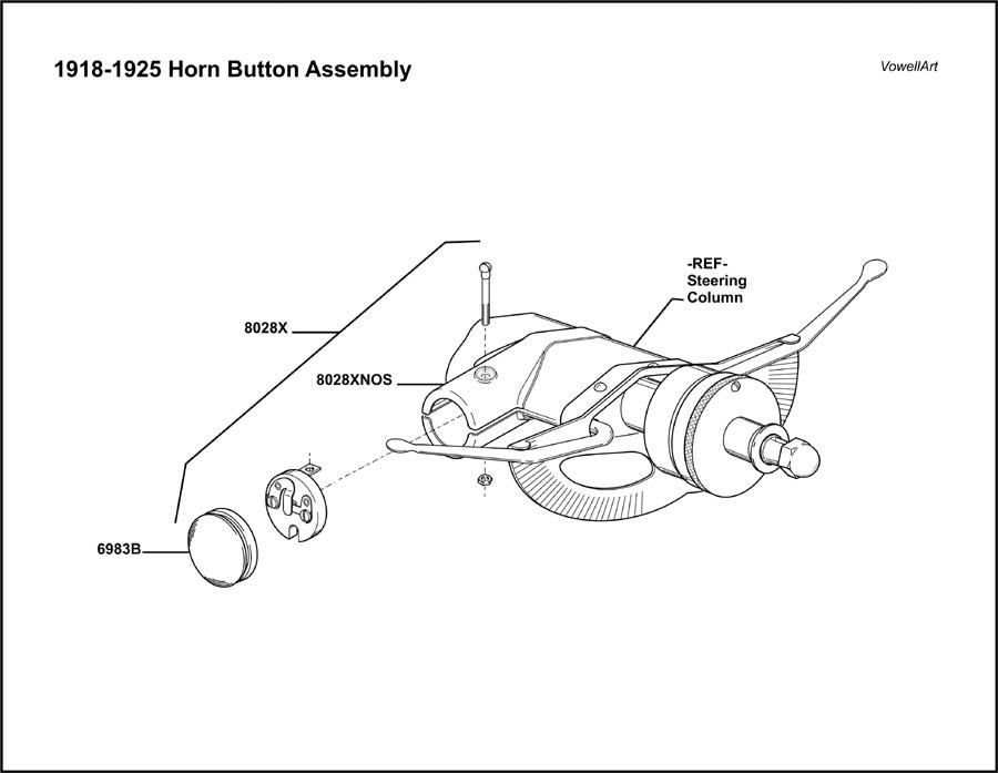 Model T Ford Forum: ***Horn Button Assemblies 1915-1917 ...