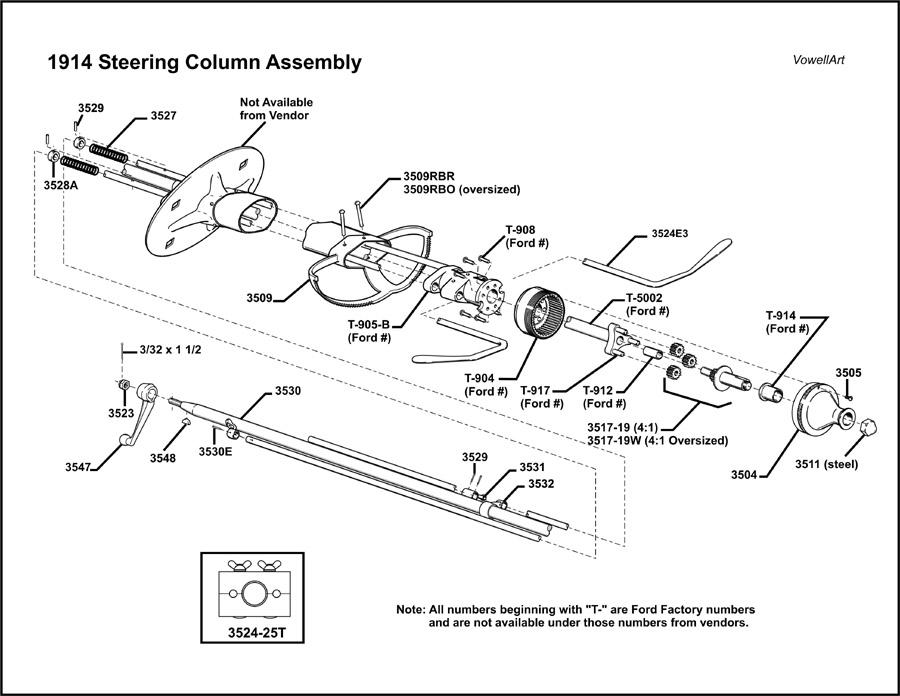 model t ford forum     1914 steering column assembly