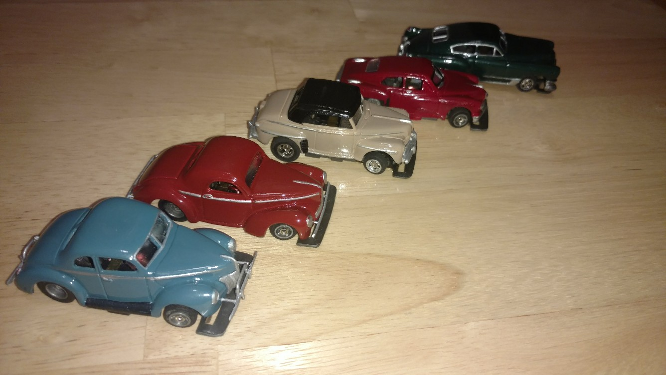1940s - the fourth one in I cast from a Hot Wheels car.