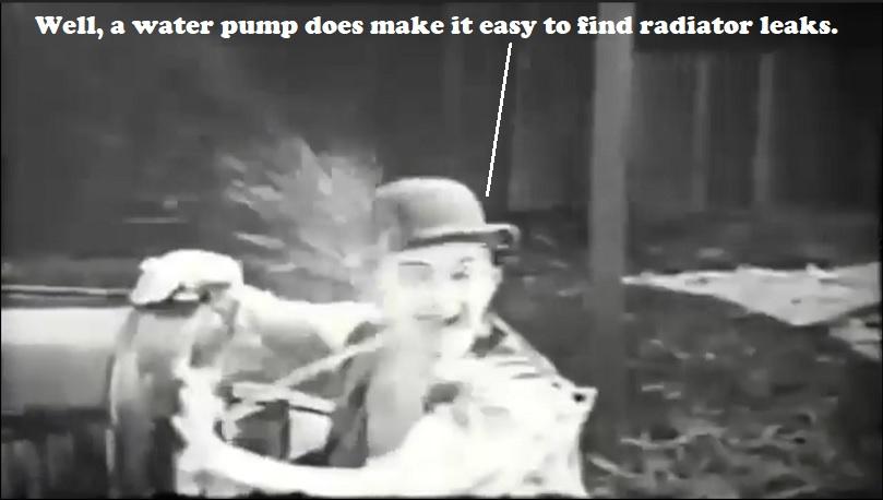 Radiator spew