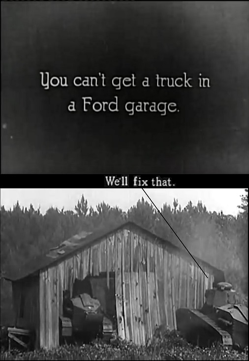 truck in Ford garage