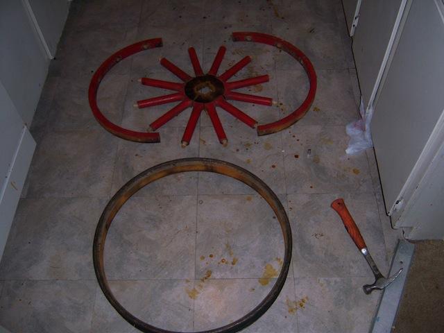 Taking wheel apart