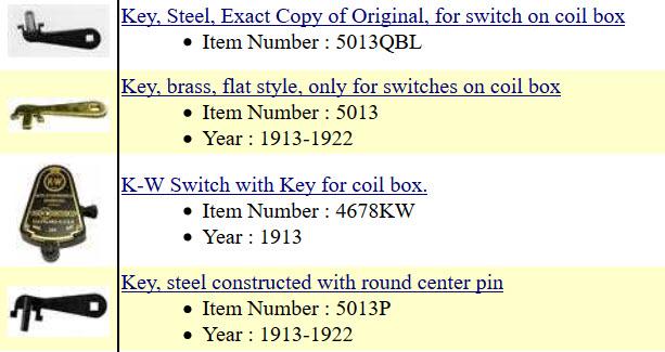coil box keys
