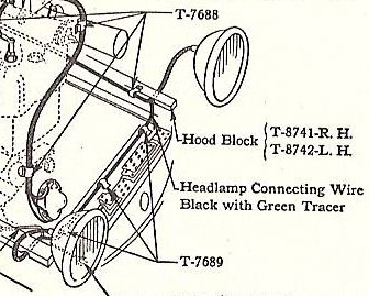 model a ford headlight wiring model t ford forum: wire clip/retainer for 26/27 wire harness