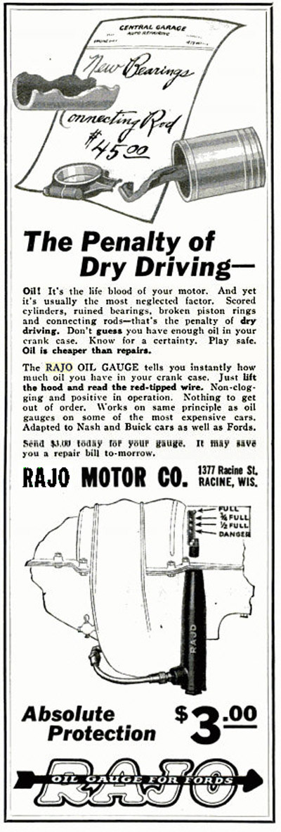 Rajo Oil Gauge