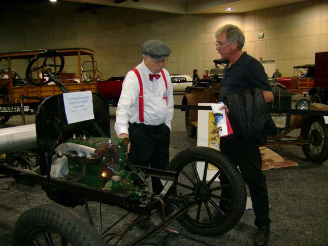Norm Kling demonstrates the chassis