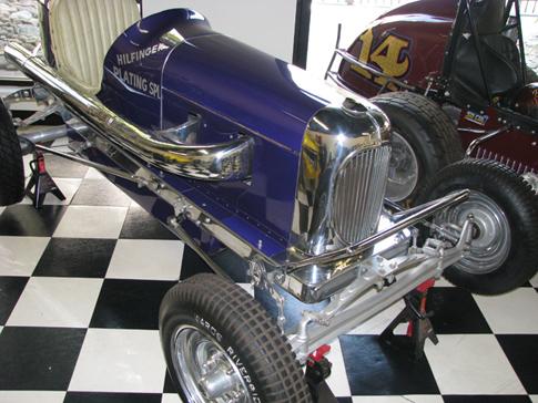 Blue J.B. Car