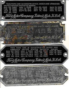 on Model T Ford Engine Serial Numbers Location