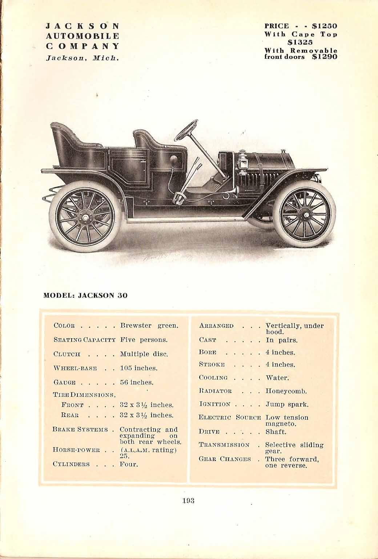 1911 Jackson Model 30 page: