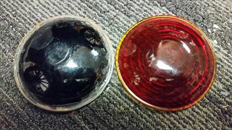 Dark tail lamp lens 1