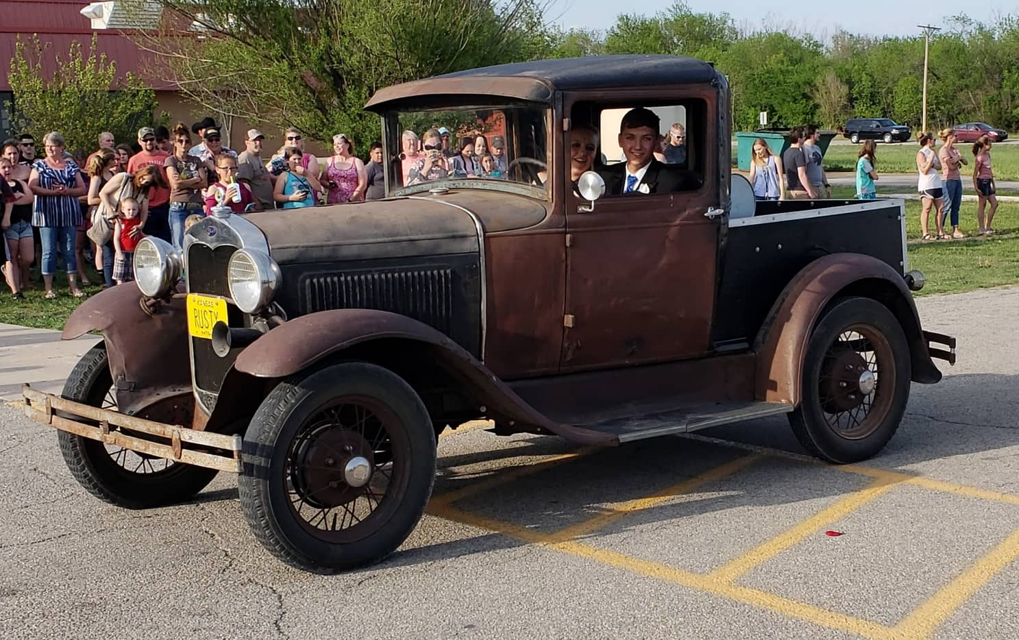 1929 A - My 16yr old son driving it to prom. Best pic I had.