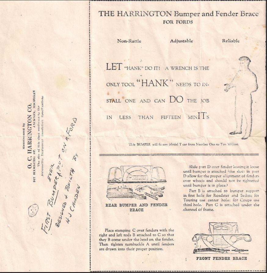 Harrington Bumper Ad
