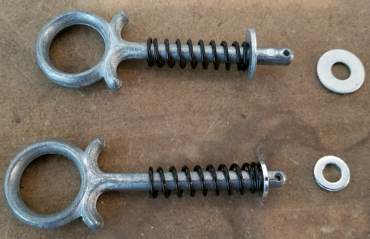 Latches with washers