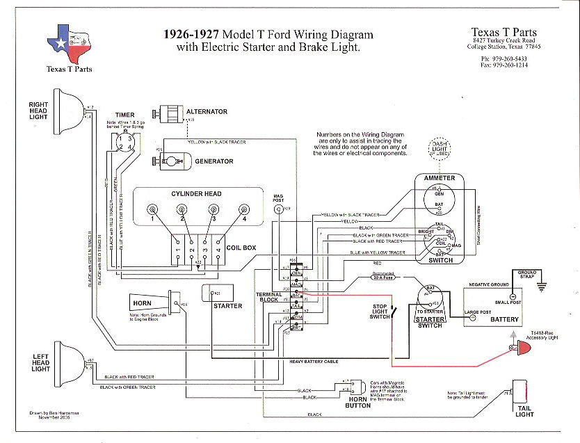 Ford Generator Wiring Diagram from www.mtfca.com