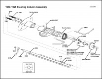 1918-1925 Steering Column Assembly