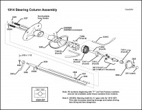 1914 Steering Column Assembly