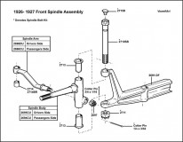 1926-1927 Front Spindle Assembly