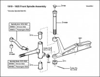 1919-192 5Front Spindle Assembly