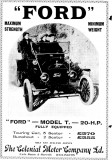 Ford Advert 1 November 1911