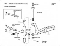 1911-1915 Front Spindle Assembly