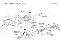 1917-1921 Rear Axle Assembly