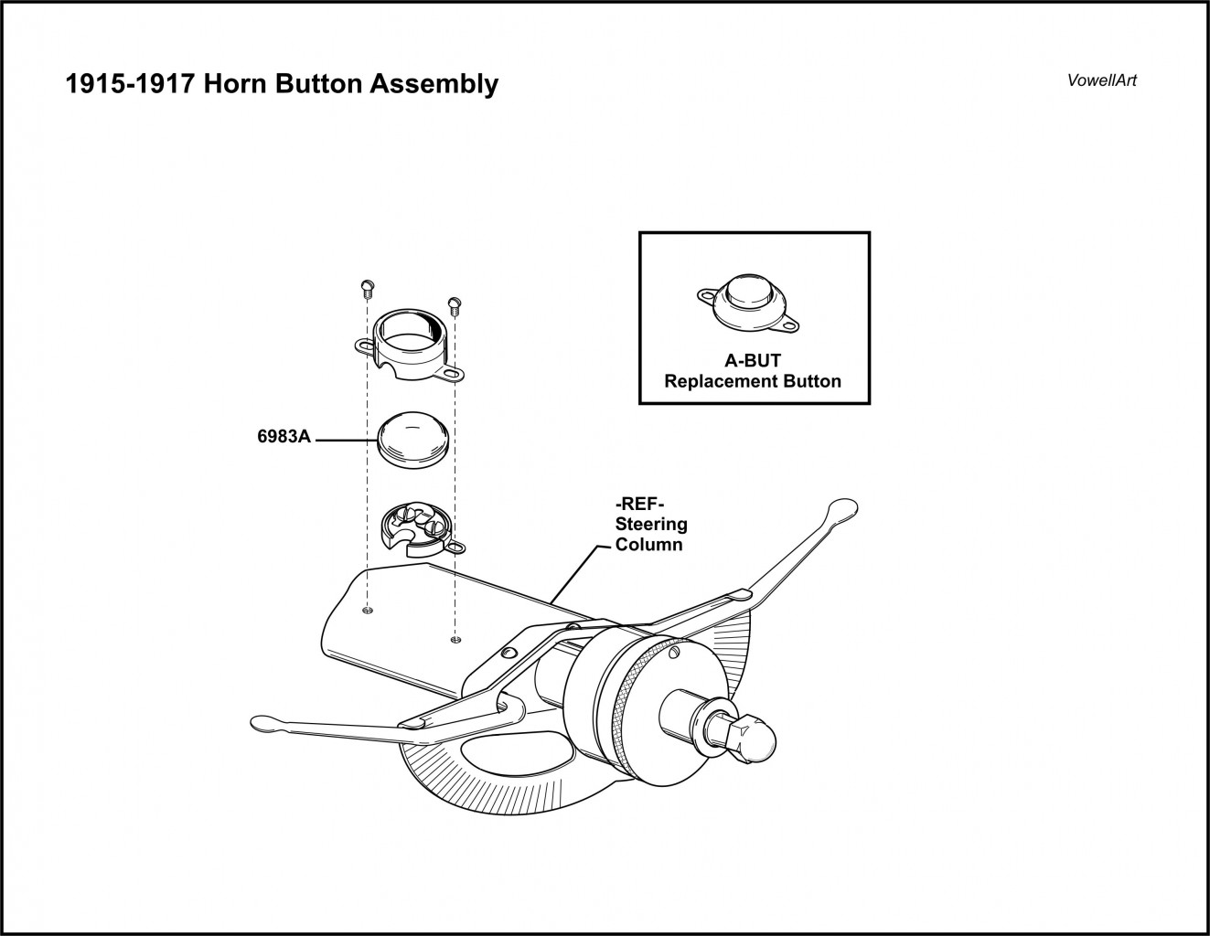 1915-1917 Horn Button Assembly